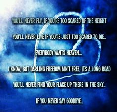 Youll never find your place up there in the sky..if you never say goodbye #realtalk #hardwell #edm4L