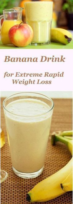 Banana Drink for Extreme Rapid Weight Loss is part of Weight loss smoothies - Want to get rid of several pounds of excess tummy that make you big and fat Start once a day to drink this delicious banana smoothie! Weight Loss Meals, Weight Loss Drinks, Weight Loss Smoothies, Breakfast Smoothies For Weight Loss, Extreme Weight Loss, Juice Cleanse Recipes For Weight Loss, Weight Loss Protein Shakes, Shakes For Weight Loss, Weight Loss Detox