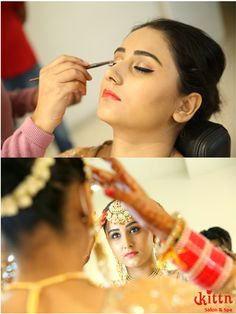 Make - up in process, at Kittn.