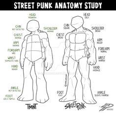STREET PUNK ANATOMY STUDY by SirConcon on DeviantArt