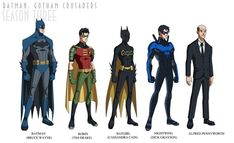 Batman: Gotham Crusaders - Season Three by phil-cho on DeviantArt Nightwing, Batgirl, Catwoman, Supergirl, Deadshot, Deathstroke, Tim Drake Red Robin, Talia Al Ghul, Killer Croc