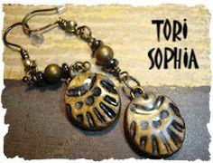 Bronze Aztec Earrings  AJE04. $15.00, via Etsy.