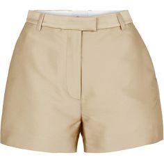 3.1 Phillip Lim Satin Short (£225) ❤ liked on Polyvore featuring shorts, natural, satin shorts, short shorts, relaxed fit shorts, 3.1 phillip lim shorts and 3.1 phillip lim