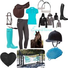 """Equestrian"" by lmluvsjm on Polyvore Would prob change the helmet to a GPA or IRH though"