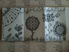 Zentangles large and small by ~cajunhillbilly on deviantART