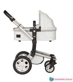 Joolz Day Pram - White Fabric - Silver Frame - Forward Facing | Every Baby Pram Stroller, Baby Strollers, Prams, White Fabrics, Nursery, Future, Silver, Baby Prams, Strollers