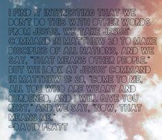 David Platt #Radical #God #Disciples