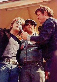 Harry Nilsson with John Lennon