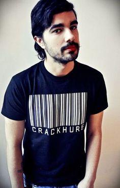 """The TCHIK T-Shirt fuer Maenner """"Crackhure Schwarz"""""""