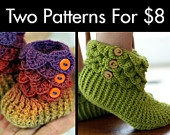 Found the actual pattern for these cutesy booties!  Not the stupid spamming junk link.