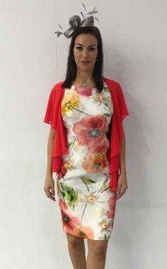 85d081e60fb Lizabella Ella Boo Print Occasion Dress with Chiffon Wrap - Due in store at  The