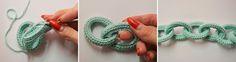 ergahandmade: Crochet Chain Scarf + Free Pattern Step By Step