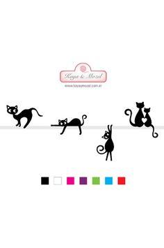 Vinilos Decorativos - Tamaño grande - Kaya & Mozel - Objetos de diseño con gatos