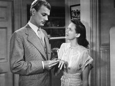 """Joseph Cotten and Teresa Wright in """"SHADOW OF A DOUBT"""" Uncle Charlie: """"I can't face the world in the morning. I must have coffee before I can speak"""". We Movie, Hooray For Hollywood, Hollywood Stars, Alfred Hitchcock, Vintage Hollywood, Classic Hollywood, English Actresses, Actors & Actresses"""