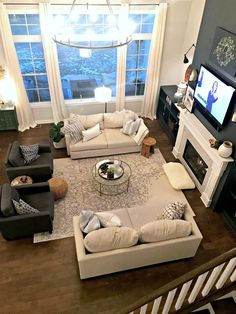 A LARGE coffee table for a fraction of the price! (SO much better.) Large Living Room Furniture, Living Room Furniture Arrangement, Living Room Sets, Living Room Chairs, Home Living Room, Living Room Designs, Large Living Rooms, Living Room Arrangements, Dining Room