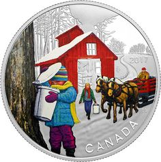 Buy Now: http://goccf.com/rcm/itm/prod2910173  RCM New Release: 2017 1/2 oz. Pure Silver Coloured Coin - Iconic Canada: Sugar Shack - Coin Community Forum