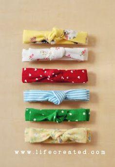 No sew fabric baby head band...Tutorial @elise | http://cutekidandreanne.blogspot.com