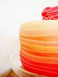 Orange Ombre Cake~