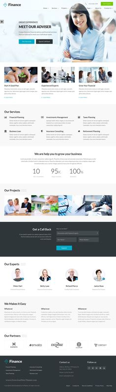 Finance is best Bootstrap HTML5 Template for corporate #website like #Financial Advisor, #Accountant, Consulting Firms, insurance, loan, tax help, Investment firm etc.