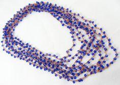 Cobalt Crystal Necklace Bracelet Copper Royal by VioletJewelry, $63.00