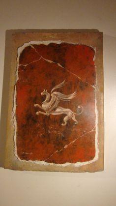 GRIFO. Dipinto a Encausto su intonaco fresco Roma