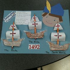 Christopher Columbus activity. Sources from www.teacherspayteachers.com/download/Christopher-Columbus-story-for-little-kids and www.teacherspayteachers.com/product/we-celebrate-Columbus-day-song-for-ELA