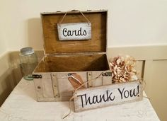 Vintage Style Wedding Card Box  Rustic by TrashFindRedesigned