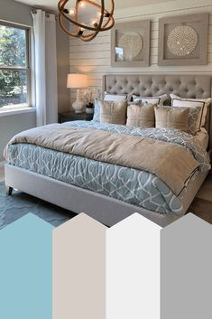 Ponte Vedra Beach - Subtle Blues - House Tour - Beach Life Bliss - Coastal Lifestyle & AirBnb Hosting Deco Interior House Decor Style Decor Decor types types ideas types landscapes Home Decor Style Interior Chic Decor Living Room Center, Home Bedroom, Beach House Interior, Bedroom Decor, Coastal Bedrooms, Home Decor, House Interior, Bedroom Colors, Beach House Bedroom
