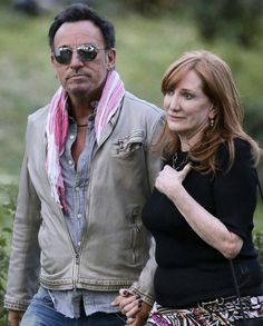 Bruce Springsteen and Patti Scialfa in Madrid, May 2016.