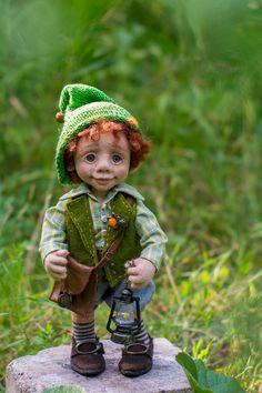 Коллекционные куклы ручной работы. Ярмарка Мастеров - ручная работа. Купить Гномик Жорик. Handmade. Комбинированный, игрушка, гномик, шерсть