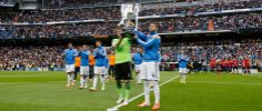 El Real Madrid ofreció la Copa del Rey al Bernabéu