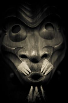Japanese wooden mask