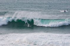 Big wave surfing Cornwall