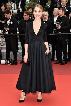 Alice Isaaz in Delphine Manivet with #Chaumet jewels attends the Closing Ceremony during the 69th annual Cannes Film Festival on May 22, 2016 #Cannes2016