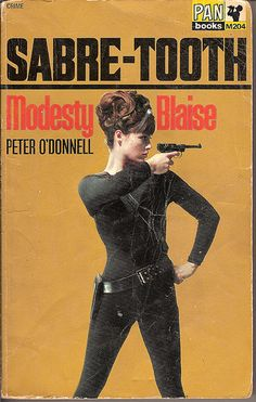 Modesty Blaise Sabre-Tooth - Pan book cover by Covers etc, via Flickr