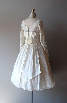 r e s e r v e d...50s lace wedding dress / 1950s by DearGolden