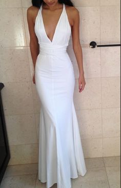 White Prom Dresses,Long Prom Dresses,Simple Prom Dresses,Evening Dresses,Cheap