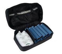 {Best Hair Tool Nominee on QVC} Calista Tools Set of 12 Ion Hot Rollers with Clips and Travel Bag