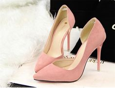 High Heel Shoes For Girl Pointed Toes Sexy High Heel Pumps Comfortable Suede Fashion Womens High Heel Shoes New Arrival High Heel Shoes Mens Casual Shoes From Zxb004, $21.97| Dhgate.Com