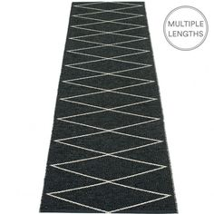 Flip the black and vanilla Max runner over and the colourway is reversed, effectively giving you two different designs in one.  Woven from soft plastic using traditional Swedish techniques, Pappelina rugs and runners can be used in all areas of the home, and even outdoors.   Pappelina runners are dust and dirt repellent, and fully washable, although a quick vacuum is probably all they will ever need to keep them looking good as new.