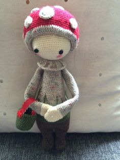 PAUL the toadstool made by Lucinda G. / crochet pattern by lalylala