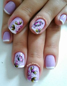 Perfect Colorful Floral Nail Design – 6 It's your turn to have great nails! Check out this year's most … Creative Nail Designs, Pretty Nail Designs, Pretty Nail Art, Creative Nails, Classy Nails, Stylish Nails, Trendy Nails, Nail Polish Designs, Nail Polish Colors