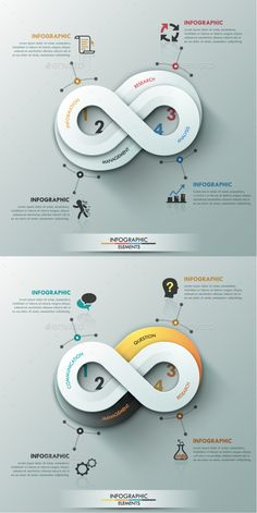 Modern Infographic Options Banner (2 Colors) — Photoshop PSD #layout #information • Available here → https://graphicriver.net/item/modern-infographic-options-banner-2-colors/10604726?ref=pxcr