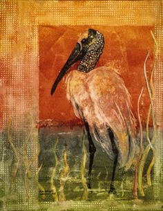 Woodstork - Watercolor Painting Mary Alice Harley