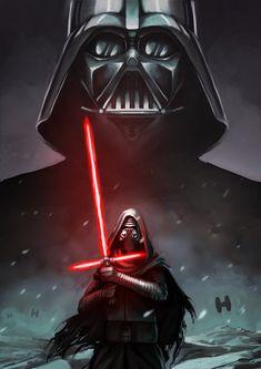 Darth Vader and Kylo Ren by Alex-Donovan