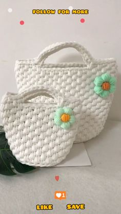 Diy Crochet Bag, Crochet Bag Tutorials, Crochet Purse Patterns, Crochet Basket Pattern, Easy Crochet Projects, Crochet Patterns For Beginners, Flower Patterns, Crochet Handbags, Crochet Purses