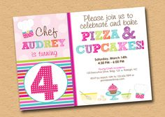 Cute invite idea....need to change to PJ's and Waffles :)