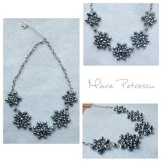 Silver handmade statement necklace