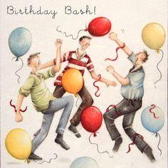 "Cards "" Birthday Bash "" - Berni Parker Designs ღ✟ Happy Birthday Man, Happy Birthday Celebration, Birthday Wishes Cards, Happy Birthday Images, Birthday Cards For Men, Birthday Bash, Birthday Quotes, Birthday Greetings, Greeting Card Companies"