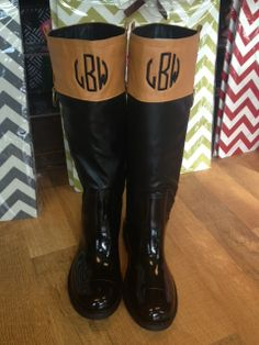 Monogrammed Rain Boots $98